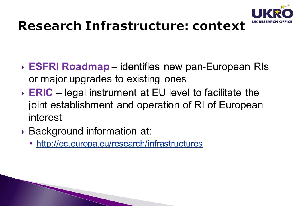 Research Infrastructure: context