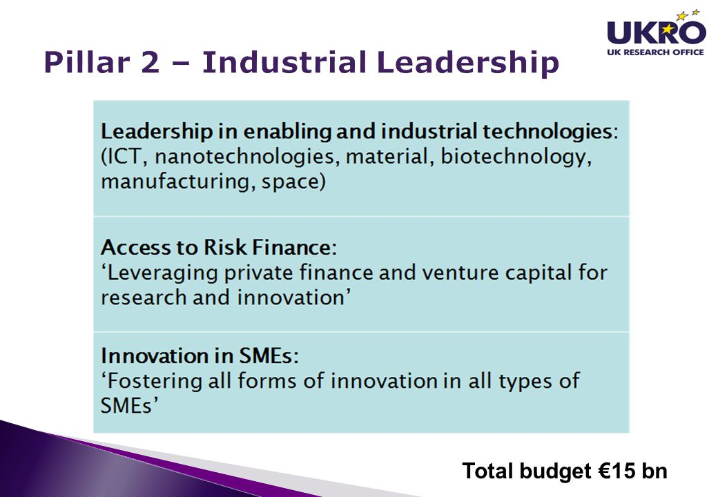 Pillar 2 – Industrial Leadership
