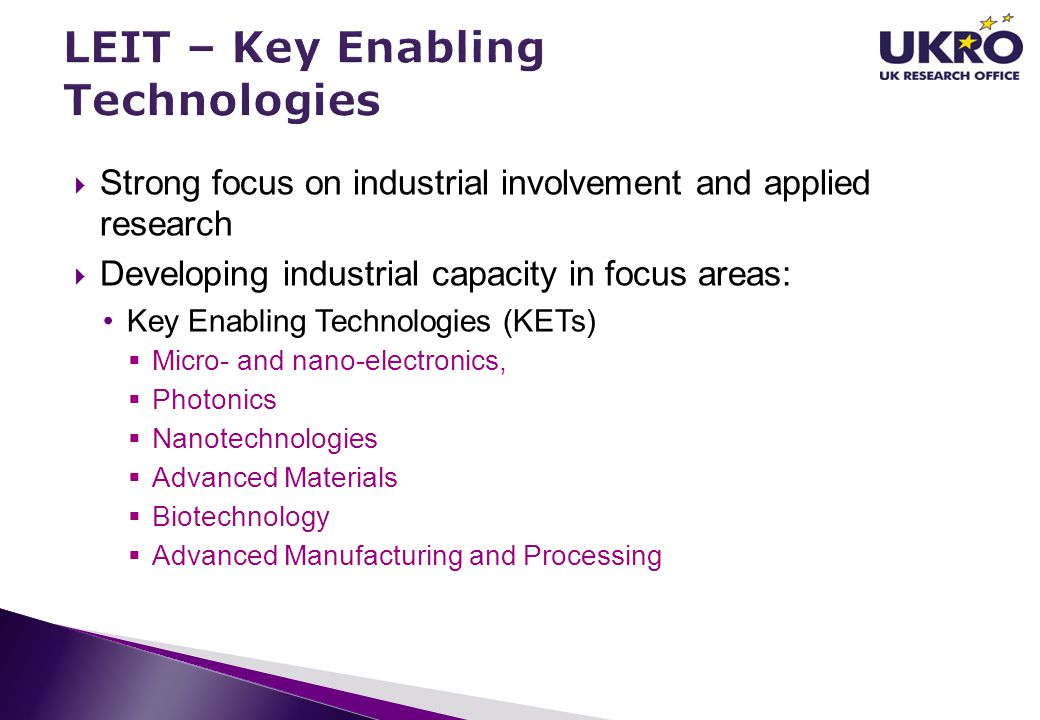 LEIT – Key Enabling Technologies
