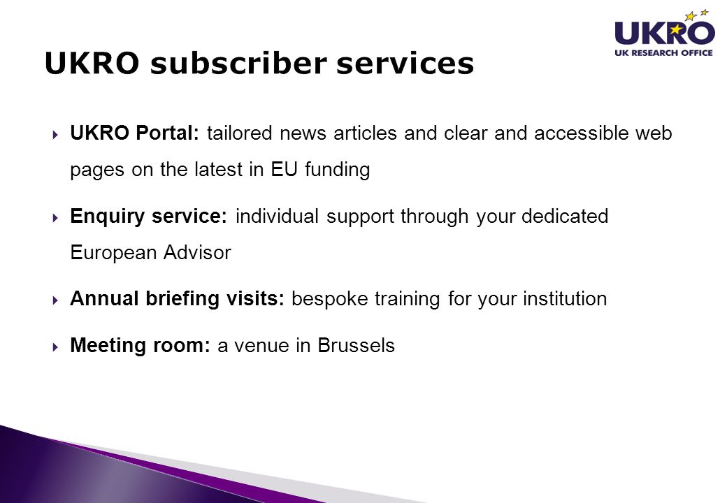 UKRO subscriber services