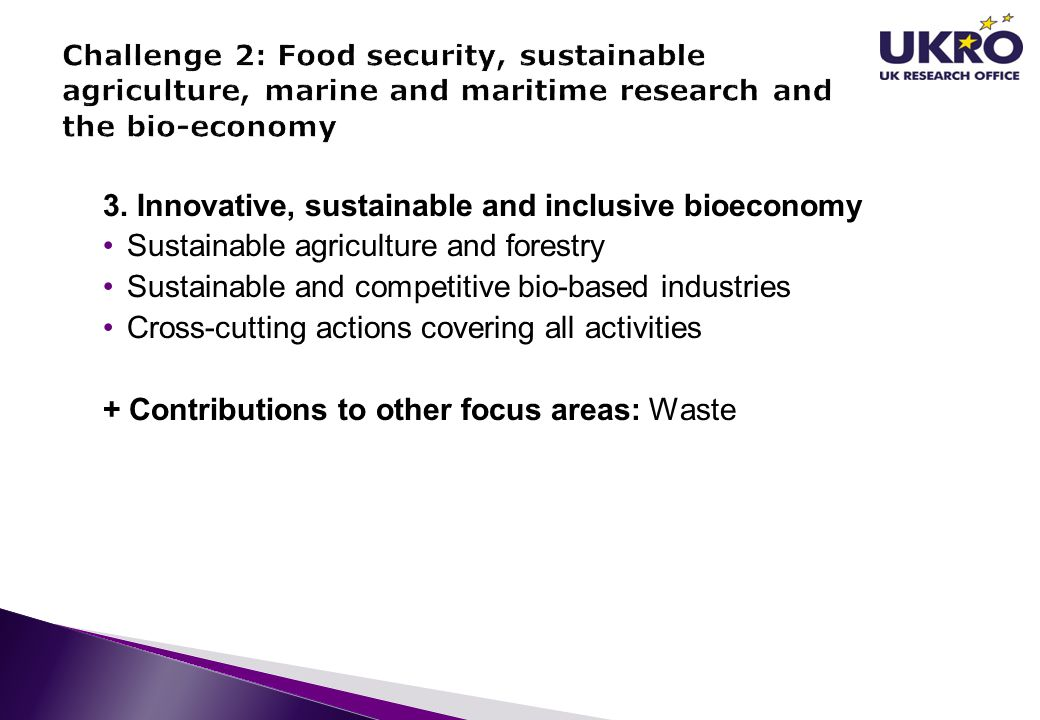 3. Innovative, sustainable and inclusive bioeconomy