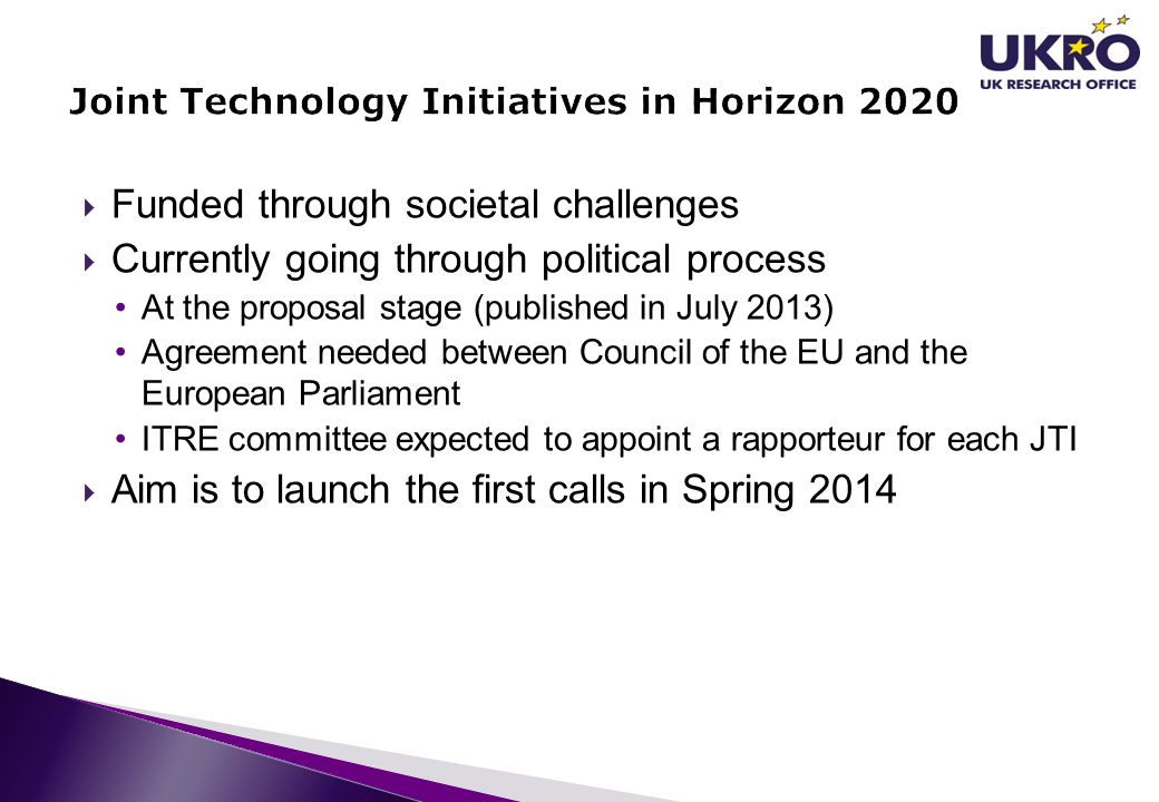 Joint Technology Initiatives in Horizon 2020