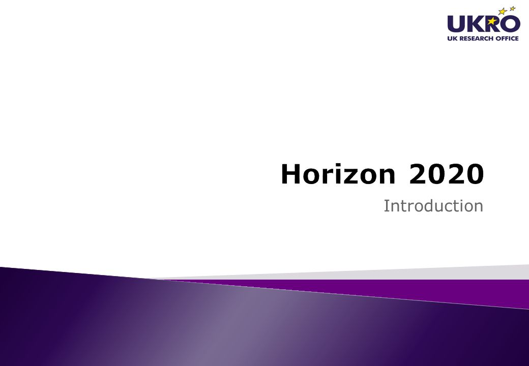 Horizon 2020 Introduction