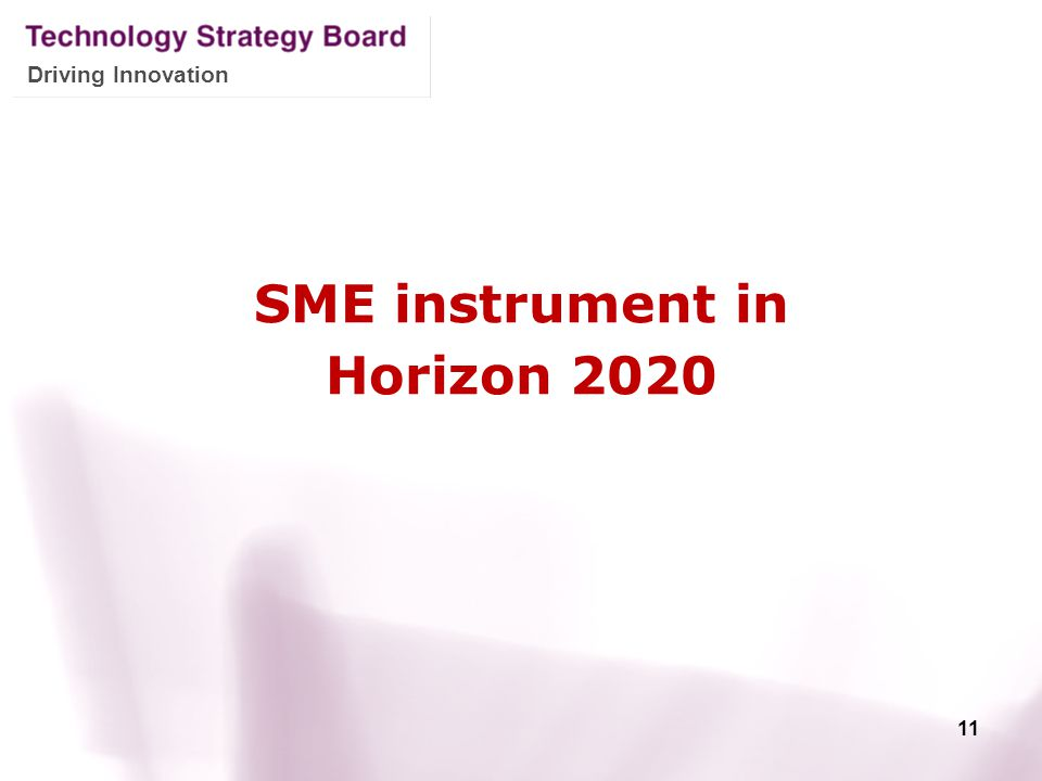 SME instrument in Horizon 2020