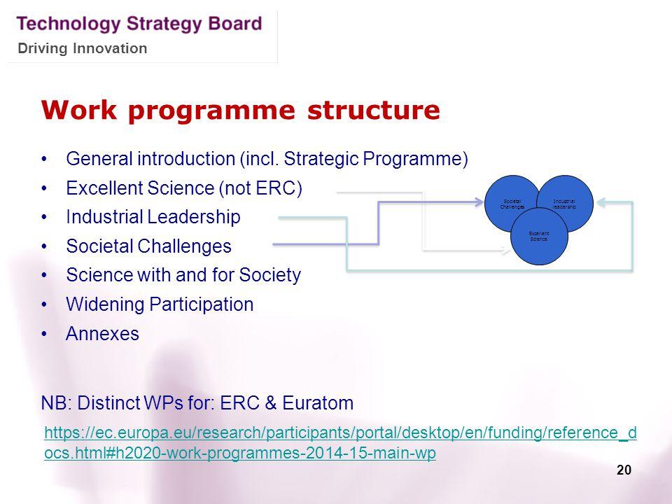 Work programme structure