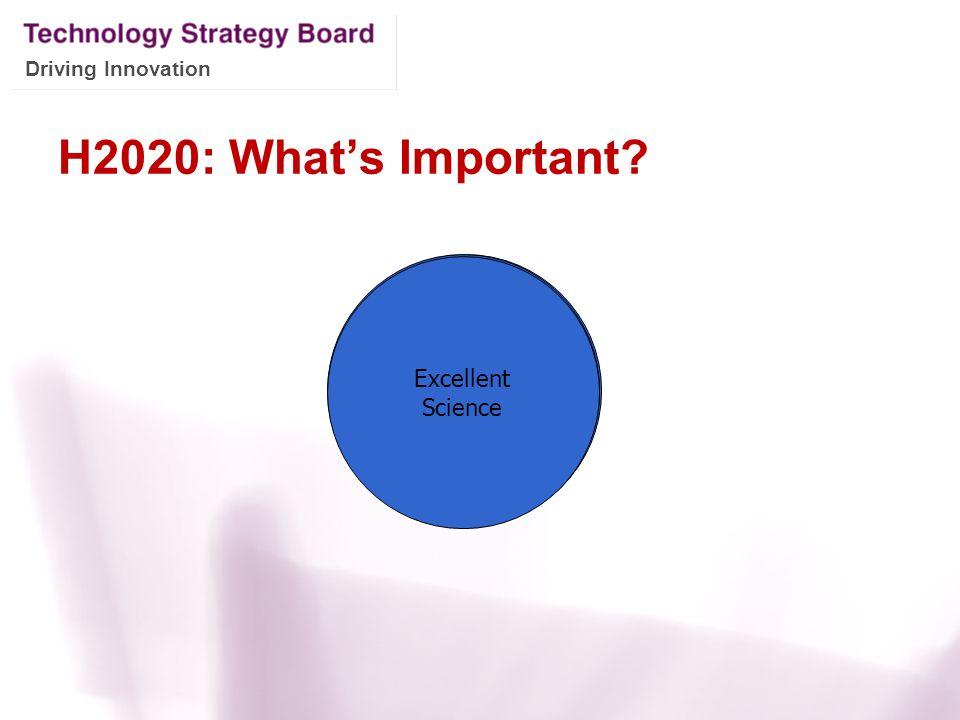 H2020: What's Important Societal Challenges Excellent Science