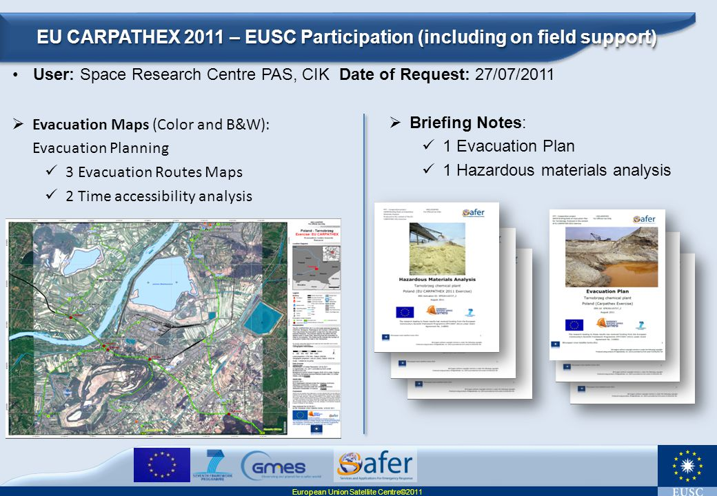EU CARPATHEX 2011 – EUSC Participation (including on field support)