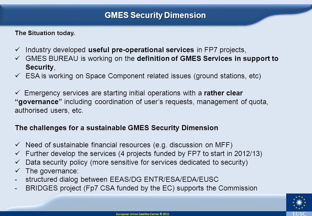 GMES Security Dimension