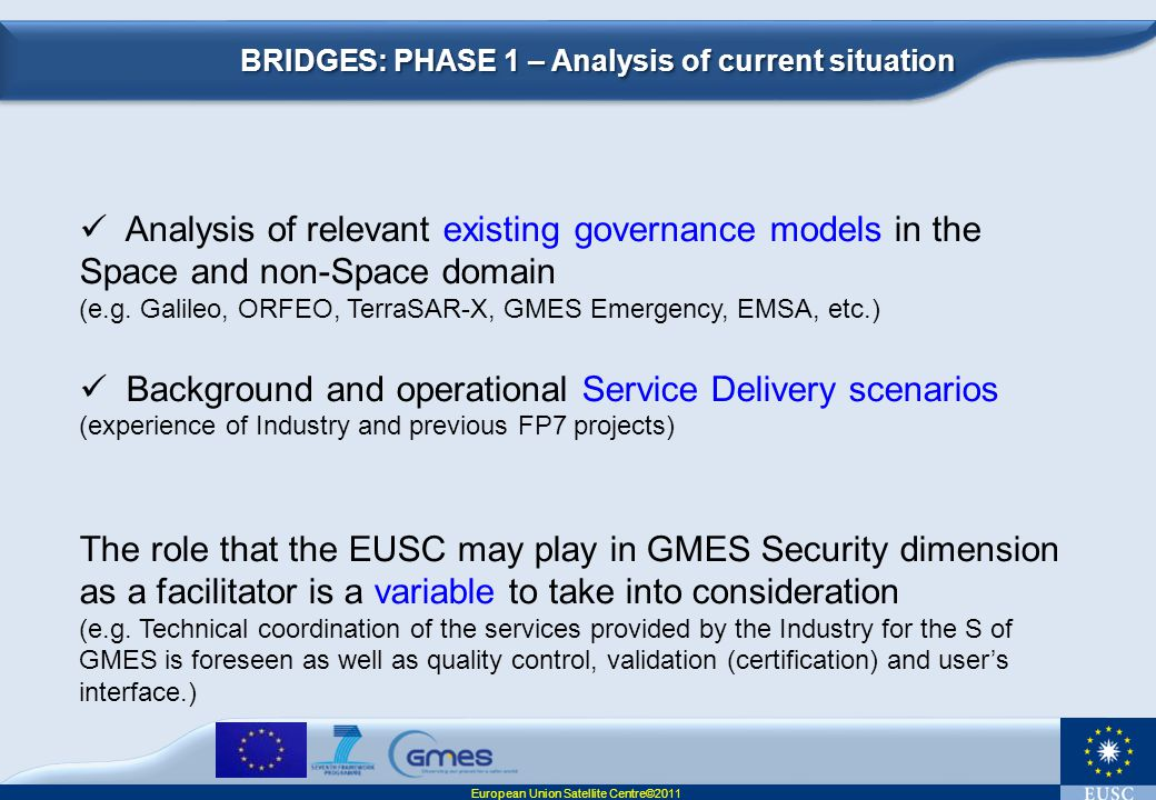 BRIDGES: PHASE 1 – Analysis of current situation