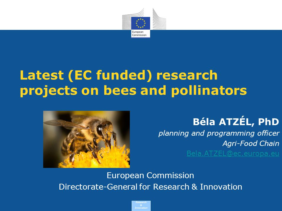 Latest (EC funded) research projects on bees and pollinators