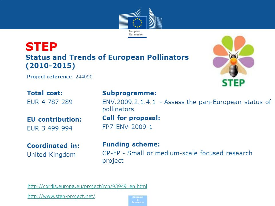 STEP Status and Trends of European Pollinators (2010-2015)