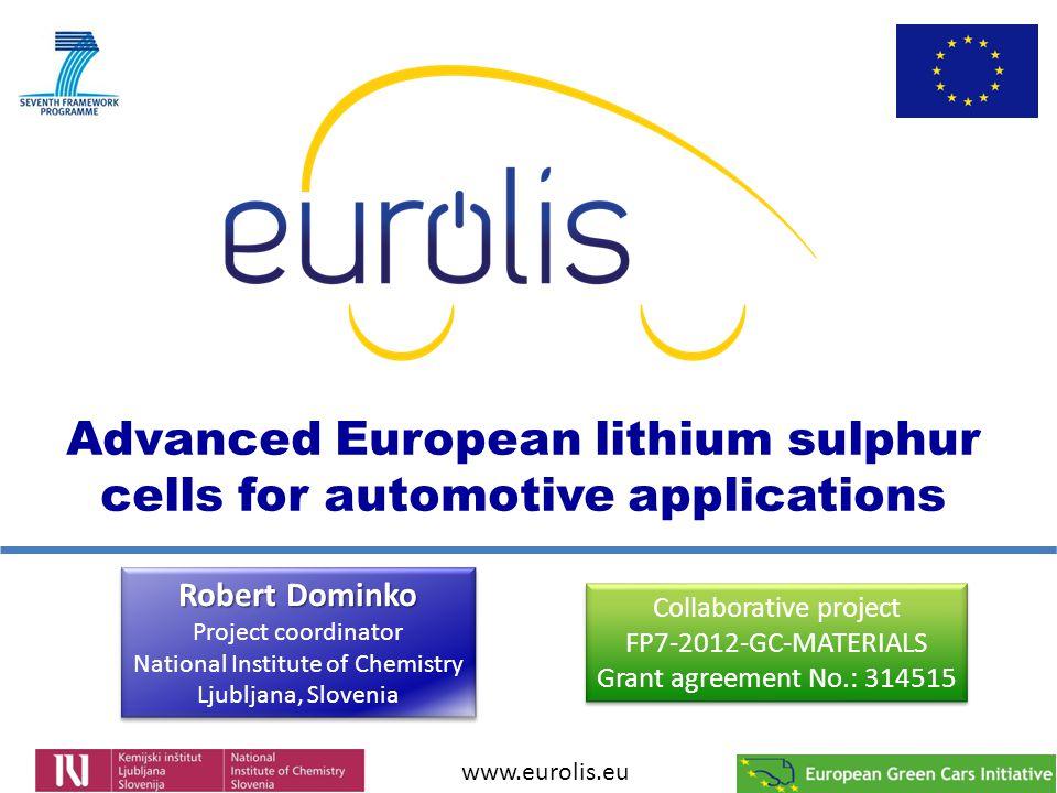 Advanced European lithium sulphur cells for automotive applications