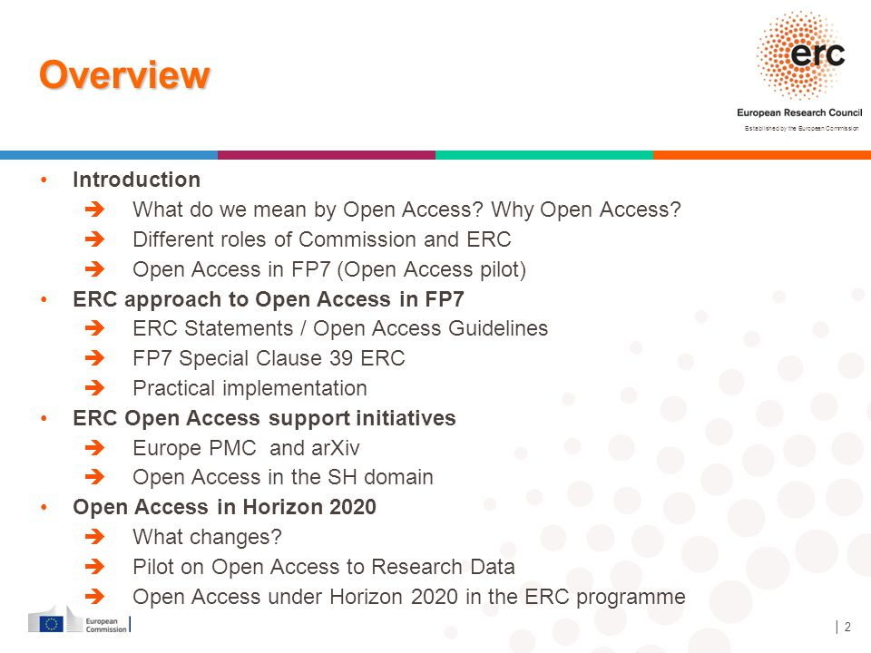 Overview Introduction What do we mean by Open Access Why Open Access