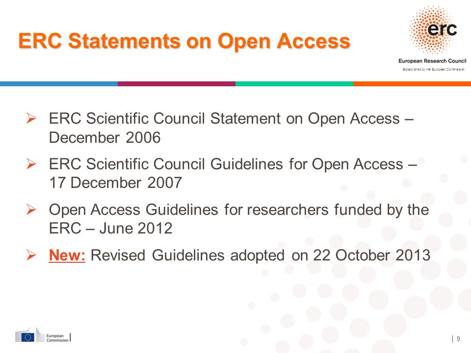 ERC Statements on Open Access