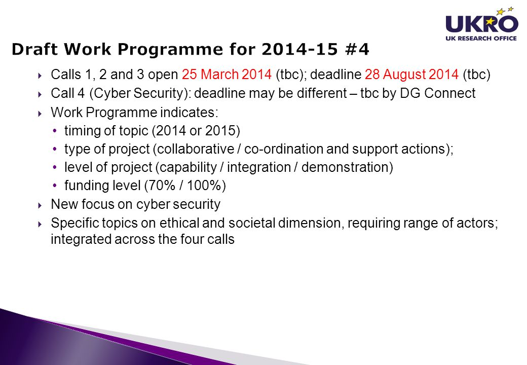 Draft Work Programme for 2014-15 #4