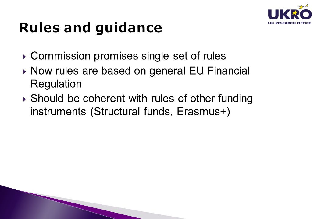 Rules and guidance Commission promises single set of rules