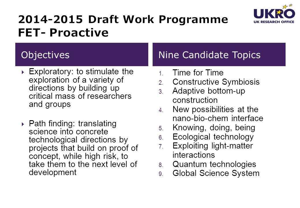 2014-2015 Draft Work Programme FET- Proactive