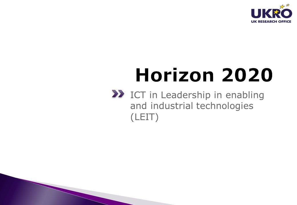 Horizon 2020 ICT in Leadership in enabling and industrial technologies (LEIT)
