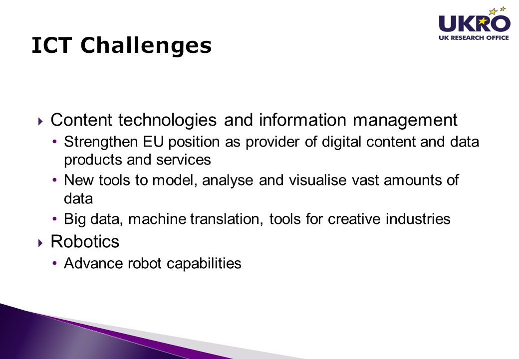 ICT Challenges Content technologies and information management