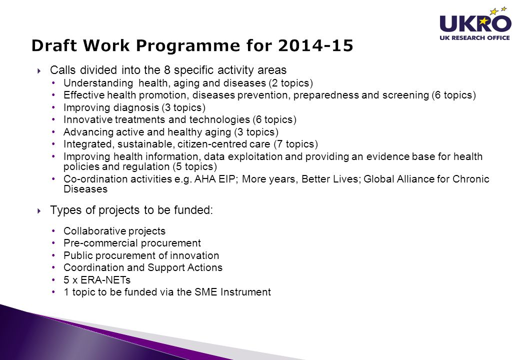 Draft Work Programme for 2014-15
