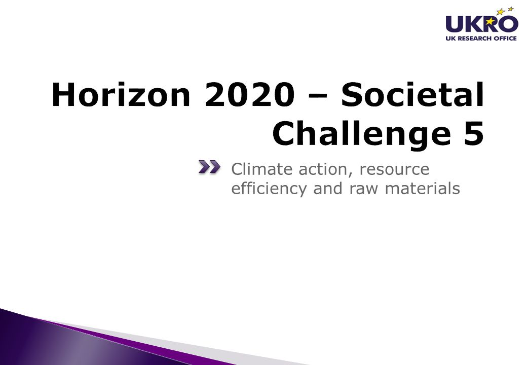 Horizon 2020 – Societal Challenge 5