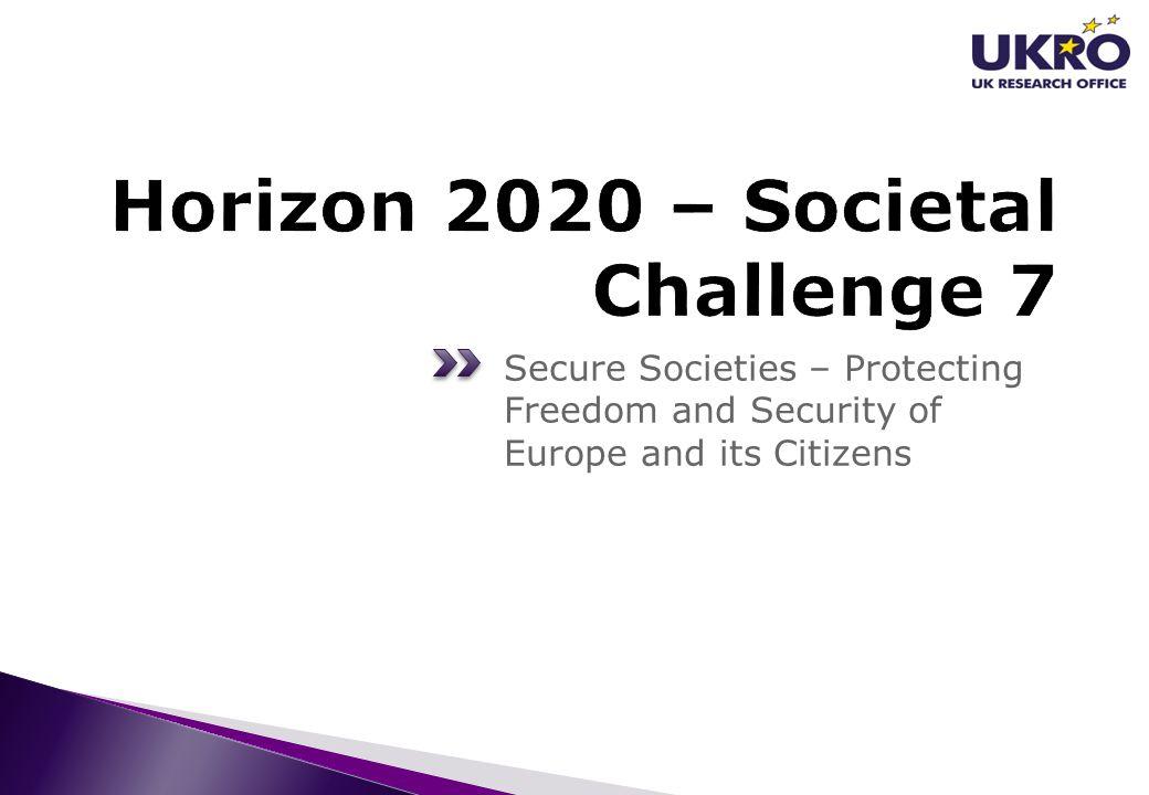 Horizon 2020 – Societal Challenge 7
