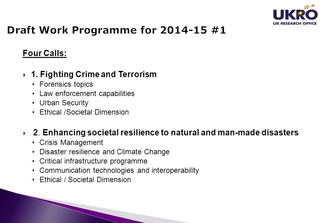 Draft Work Programme for 2014-15 #1