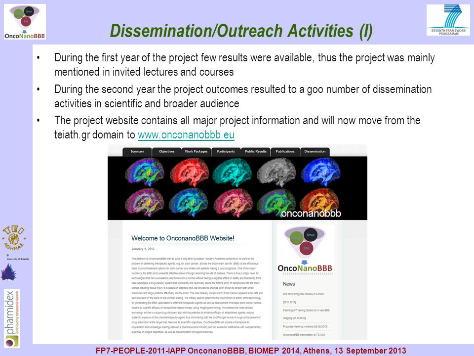 Dissemination/Outreach Activities (I)
