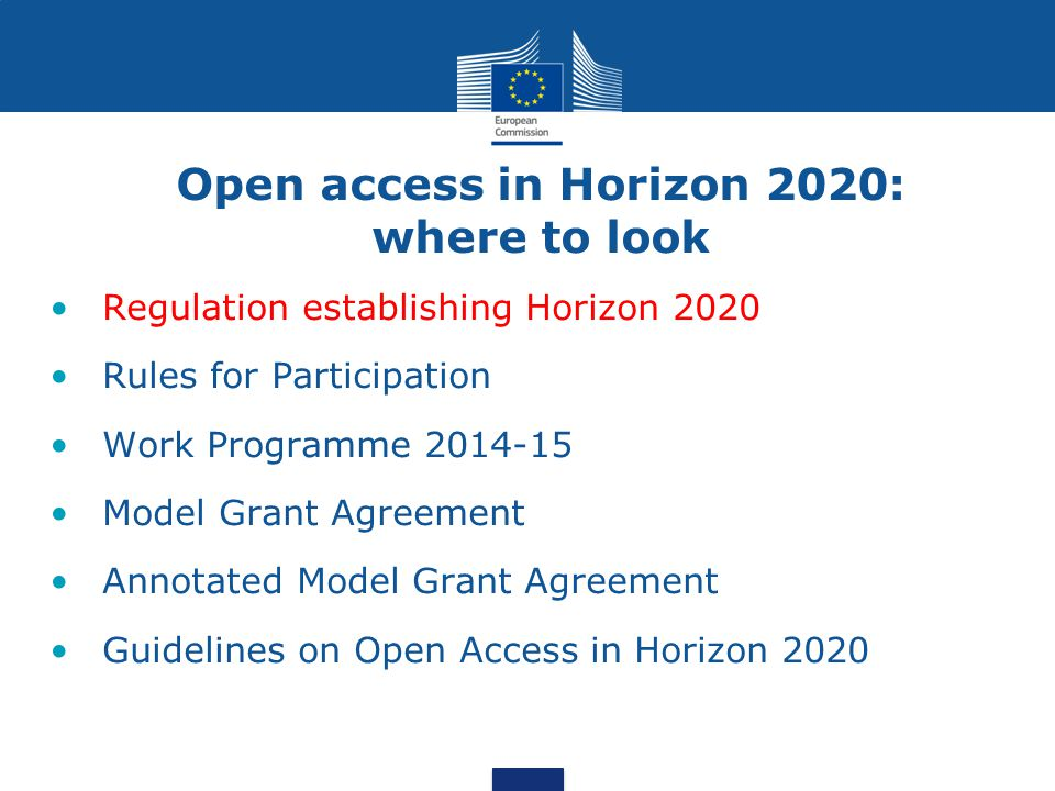 Open access in Horizon 2020: where to look