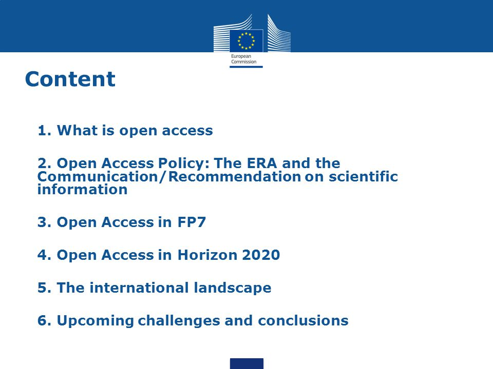 Content 1. What is open access