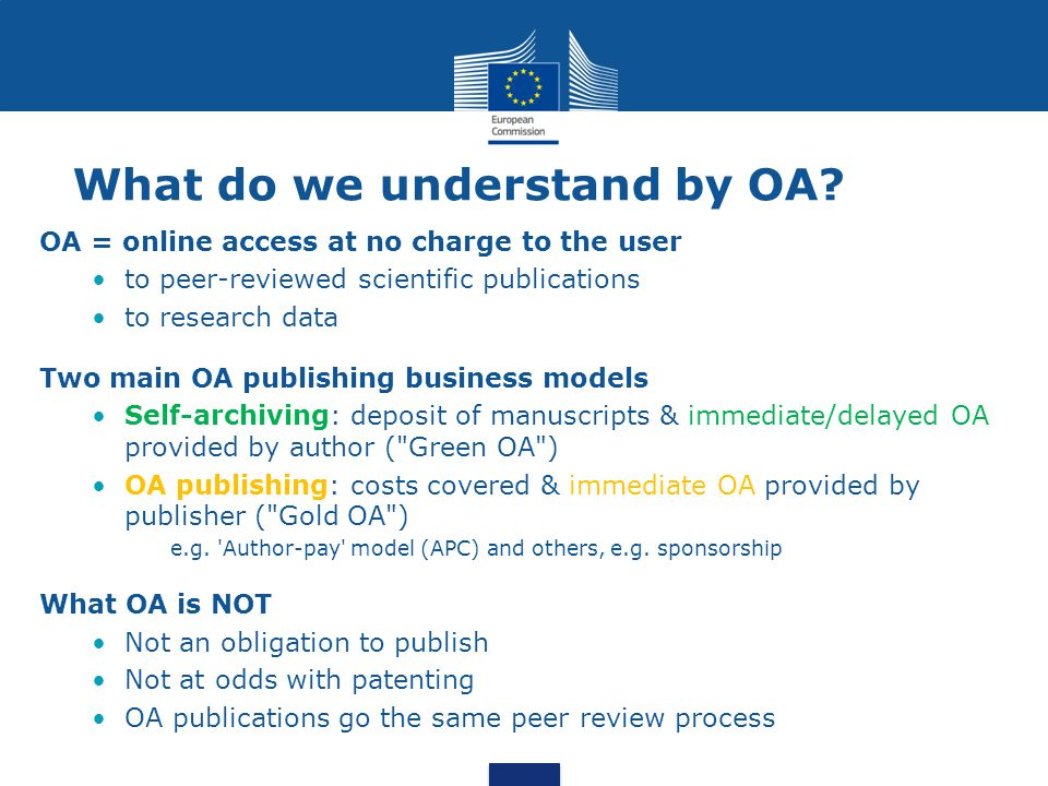 What do we understand by OA