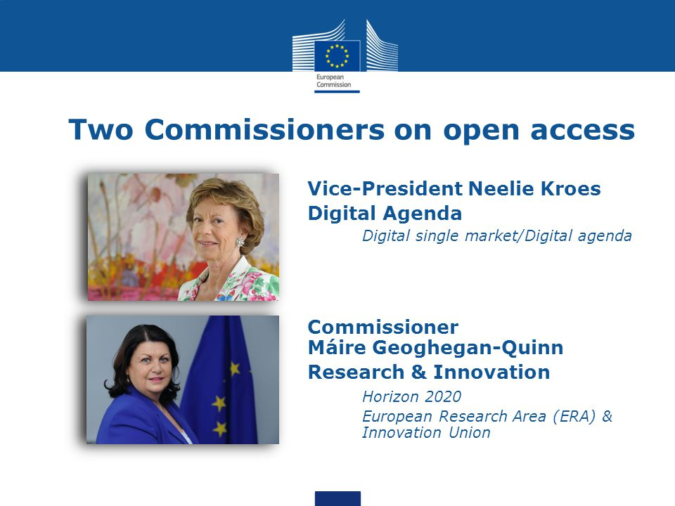 Two Commissioners on open access