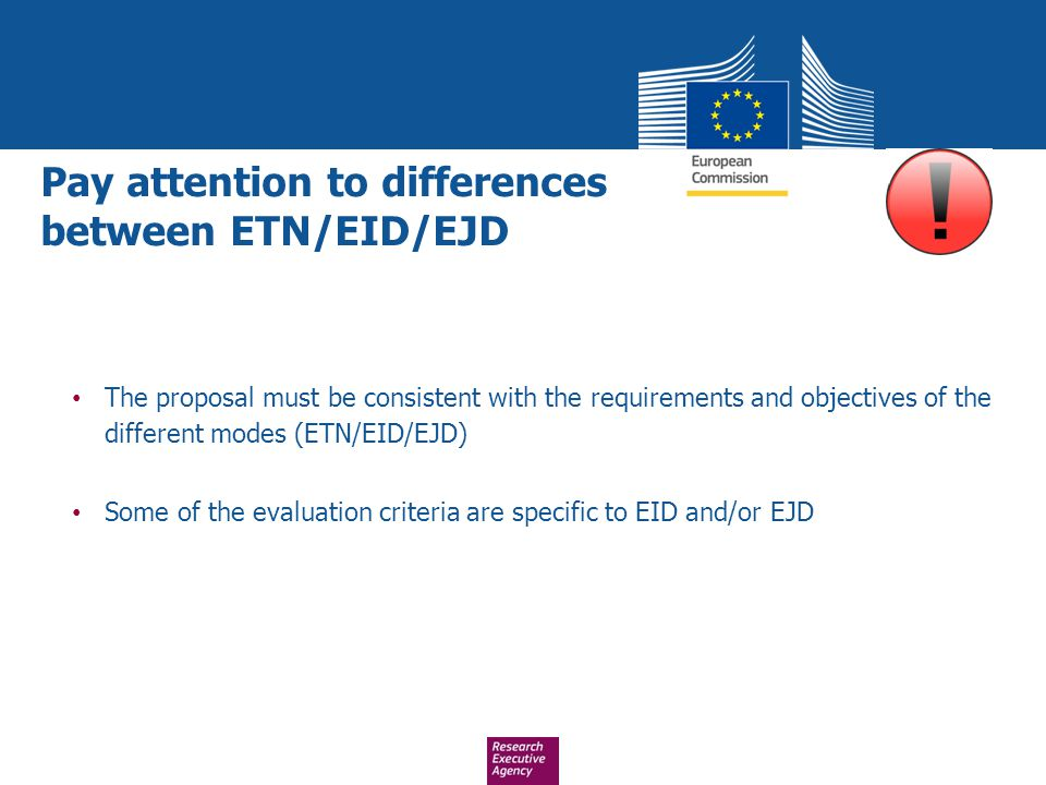 Pay attention to differences between ETN/EID/EJD