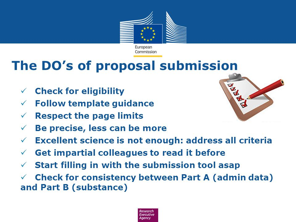 The DO's of proposal submission