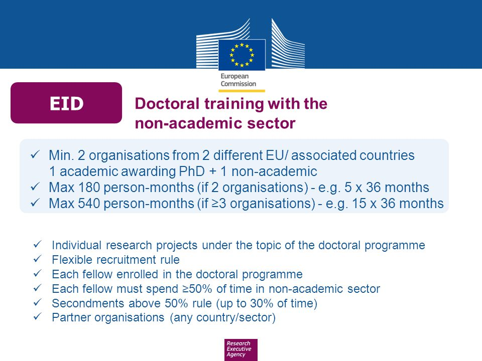 EID Doctoral training with the non-academic sector