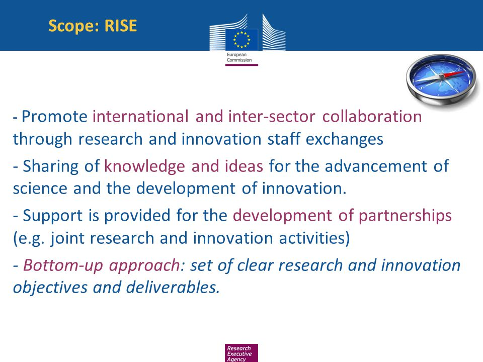 Scope: RISE - Promote international and inter-sector collaboration through research and innovation staff exchanges.
