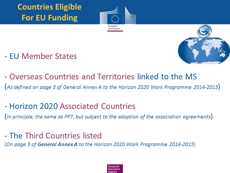 Countries Eligible For EU Funding
