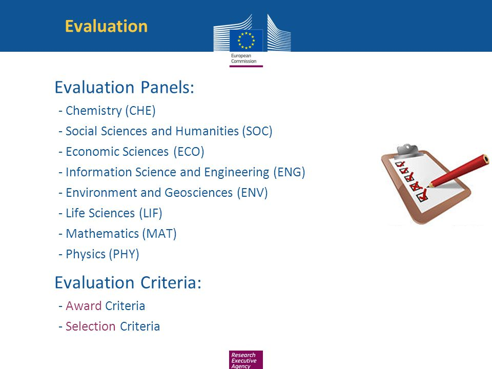 Evaluation Evaluation Panels: Evaluation Criteria: - Chemistry (CHE)