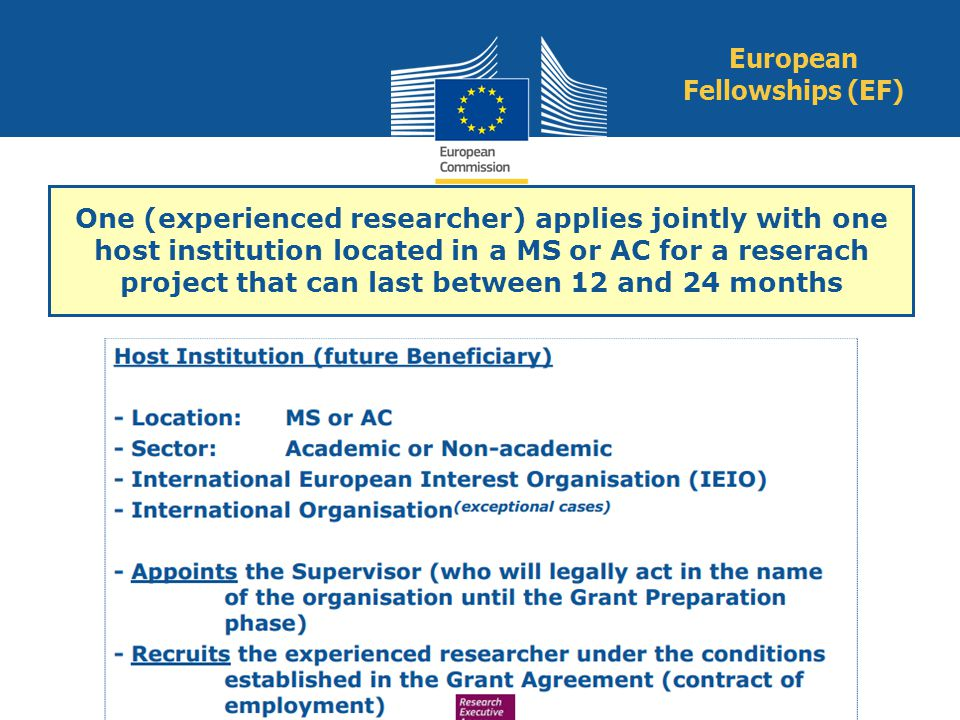 European Fellowships (EF)