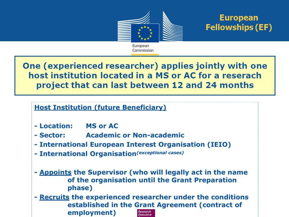European Fellowships (EF)