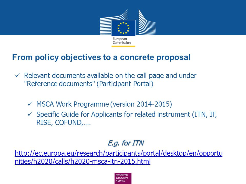 From policy objectives to a concrete proposal