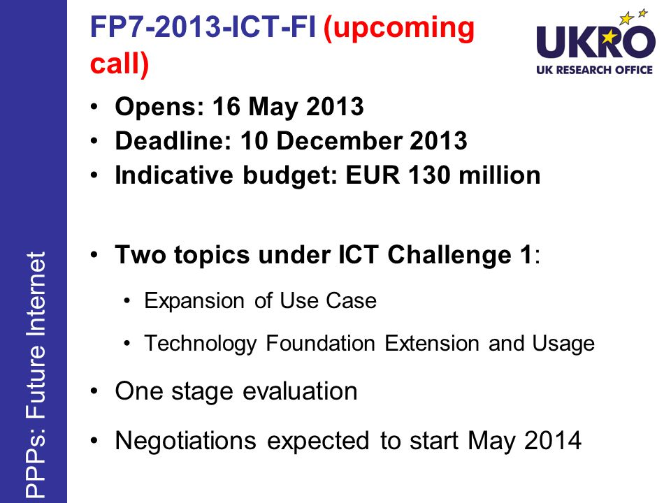 FP ICT-FI (upcoming call)