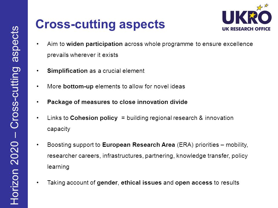 Cross-cutting aspects