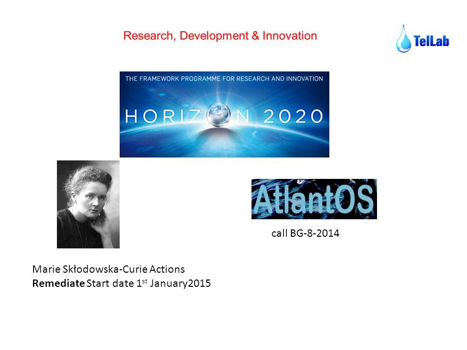 call BG-8-2014 Marie Skłodowska-Curie Actions Remediate Start date 1st January2015