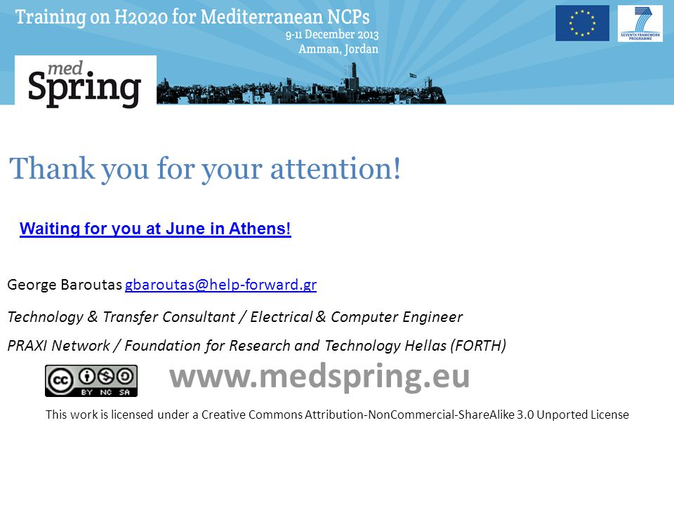 www.medspring.eu Thank you for your attention!