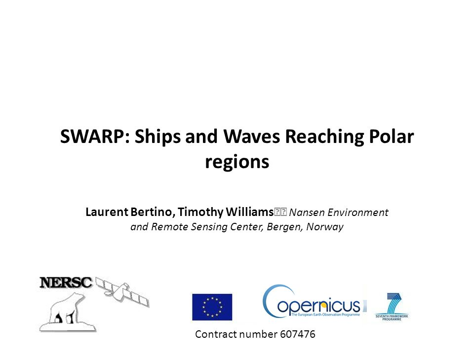 SWARP: Ships and Waves Reaching Polar regions
