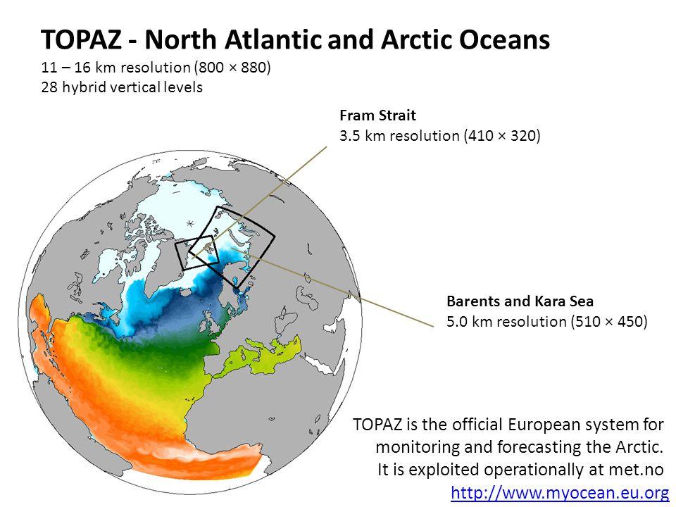 TOPAZ - North Atlantic and Arctic Oceans