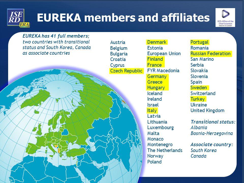 EUREKA members and affiliates