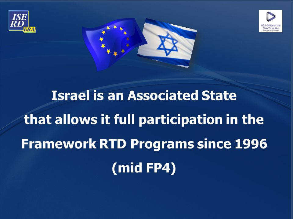 Israel is an Associated State that allows it full participation in the