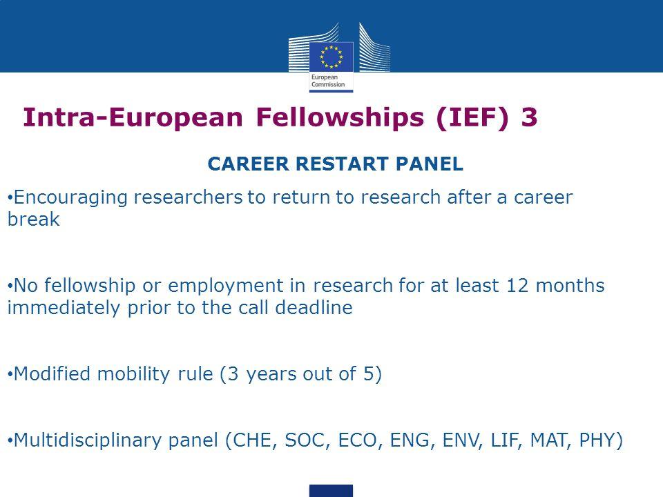 Intra-European Fellowships (IEF) 3